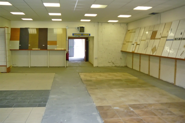 condition of old tile showroom