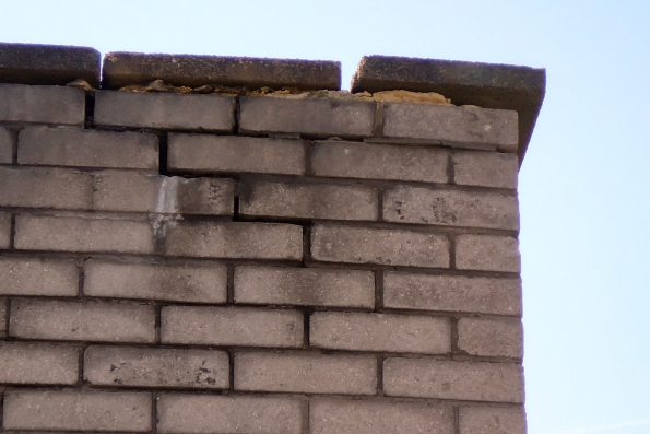 poor pointing and coping stones