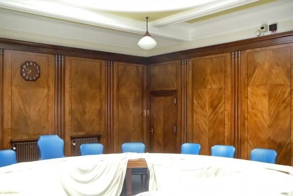 oak panelling to former boardroom