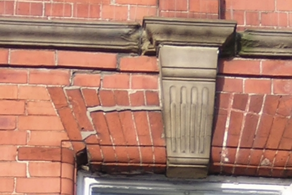 structural distress to lintel of brick soldiers